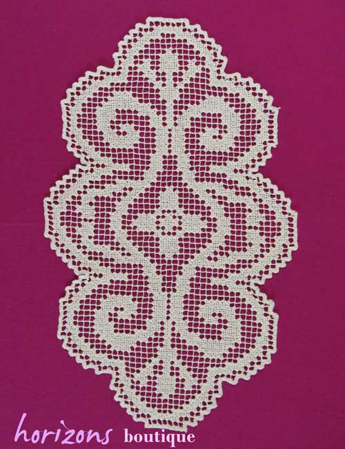 Lace - Oval Two-Tone Doily