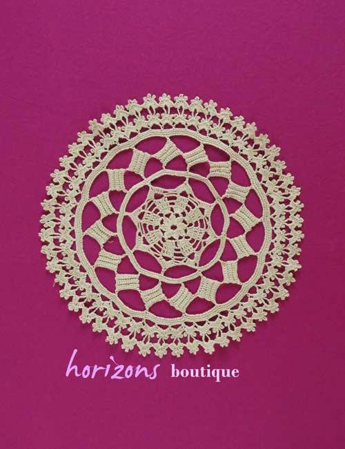 Lace - Beige Round Doily 30cm