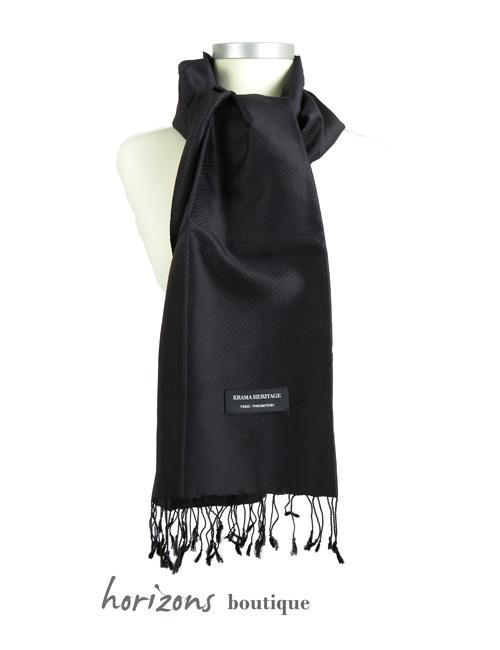 Silk Krama Diamond Black Example