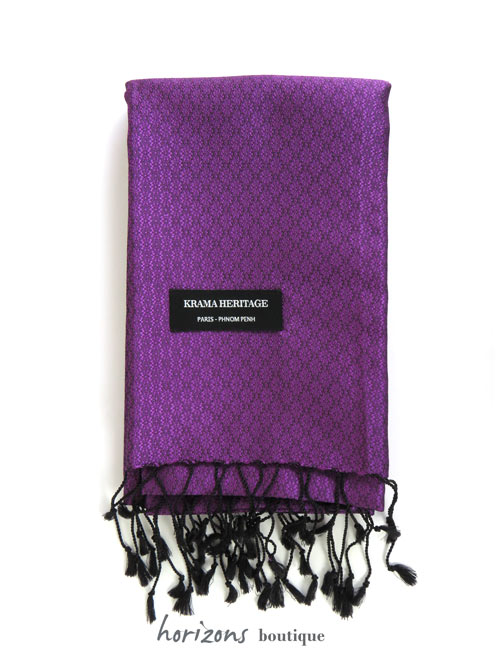 Silk Krama Jasmin Purple