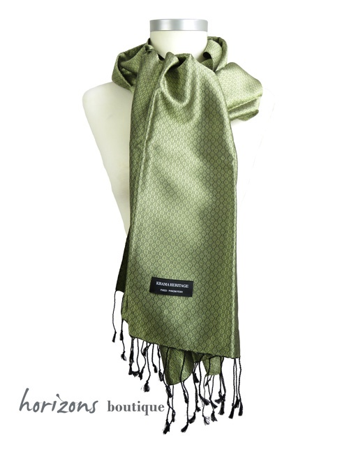 Silk Krama Jasmin Green example