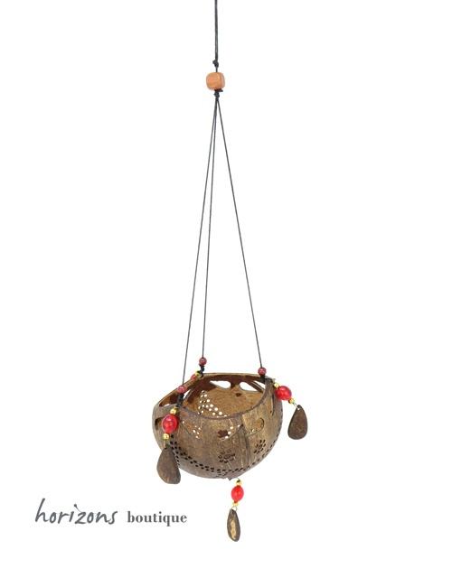 Coconut Lantern L1 hanging - kokoskunst
