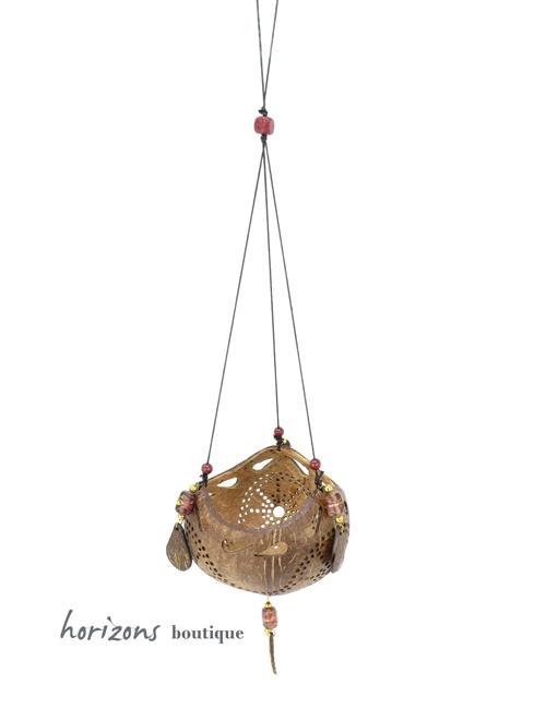 Coconut Lantern L3 hanging - kokoskunst