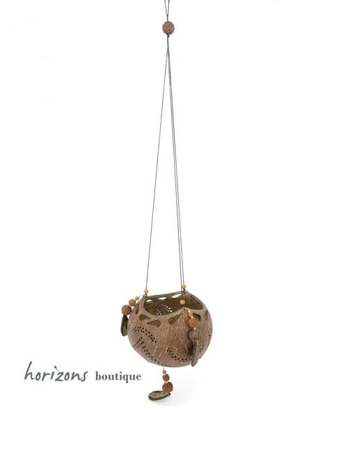 Coconut Lantern L5 hanging - kokoskunst