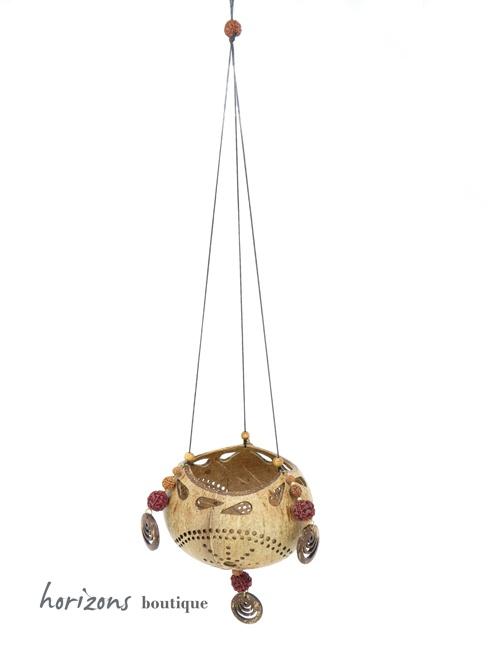 Coconut Lantern L7 hanging - kokoskunst