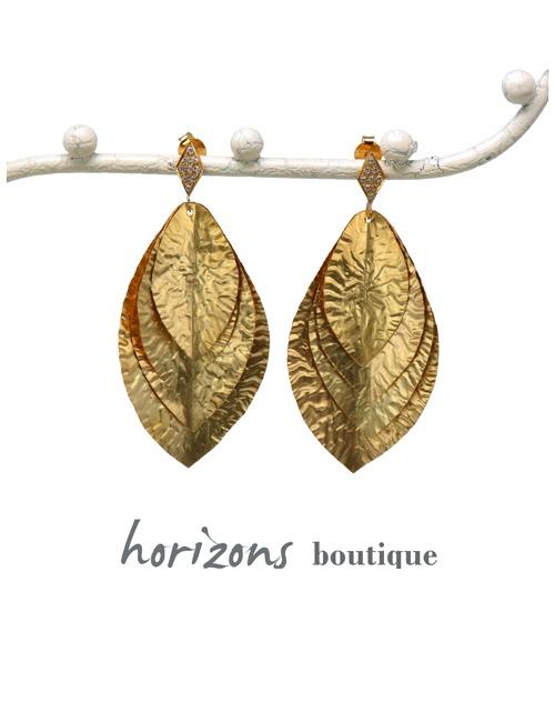 Earrings 4 Leaves Gold - Plumetti