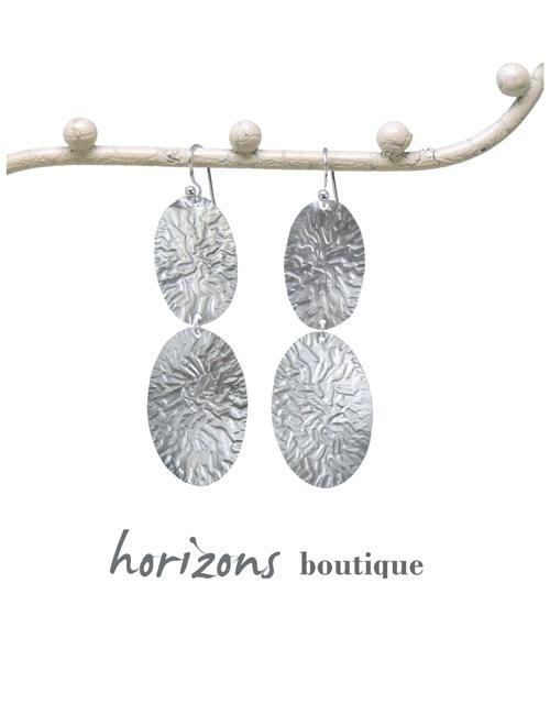 Earrings 2 Ovals Silver - Plumetti