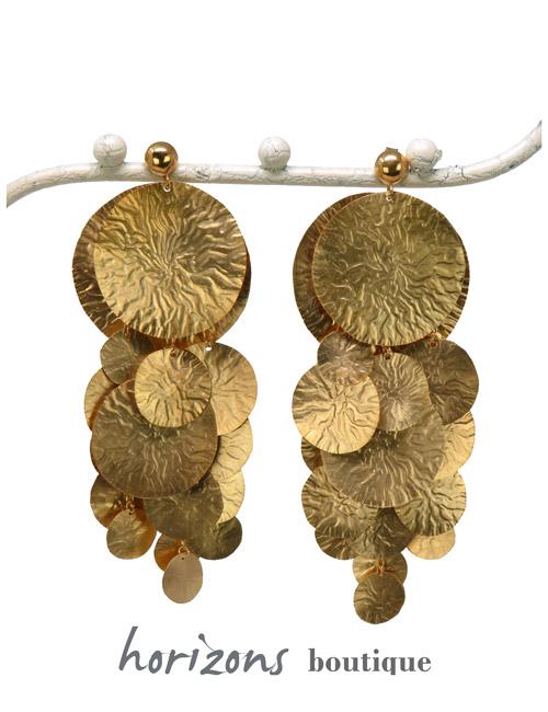 Earrings Rain Gold - Plumetti