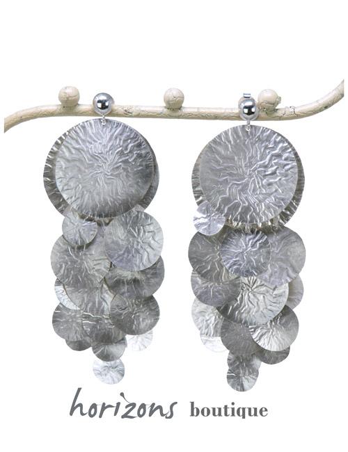Earrings Rain Silver - Plumetti