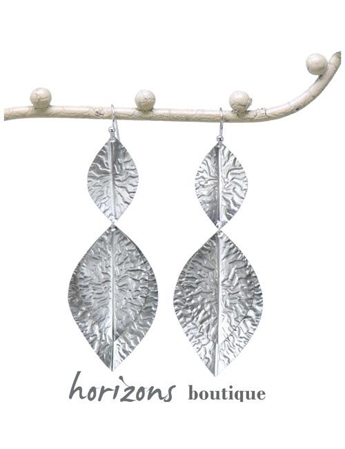 Ohrringe 3 Silberblätter - Plumetti