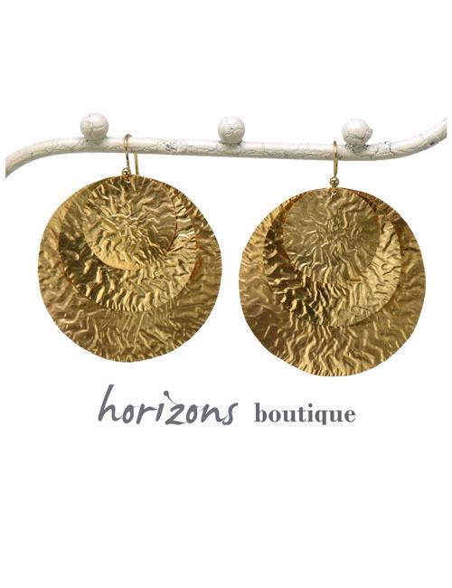 Earrings 3 Circles Gold - Plumetti