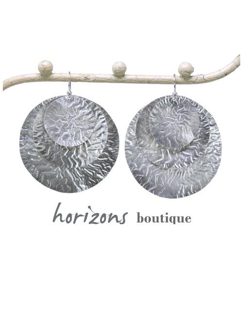 Earrings 3 Circles Silver - Plumetti