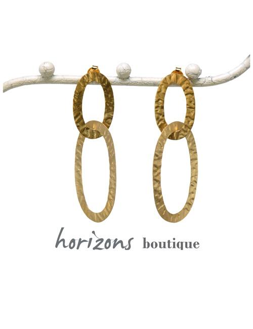 Earrings Links Gold - Plumetti
