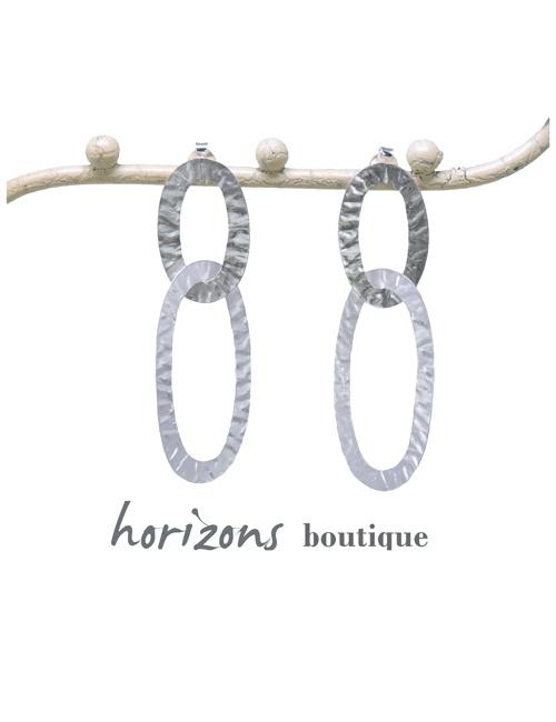 Earrings Links Silver - Plumetti