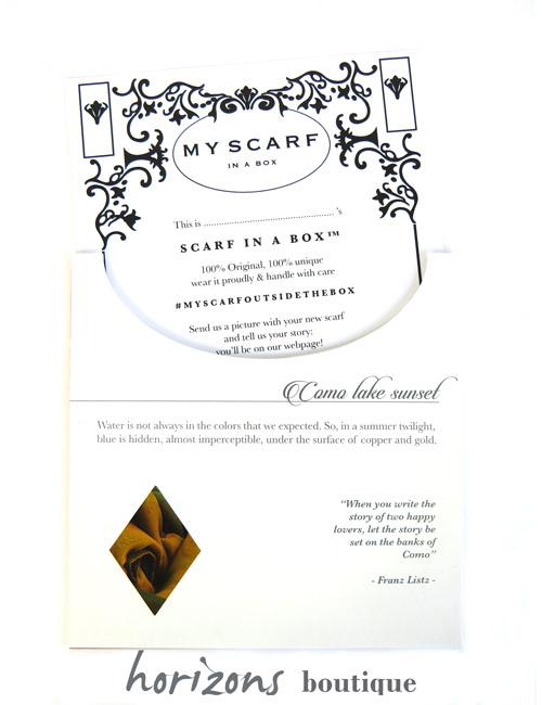 Scarf Como Card - My Scarf in a Box