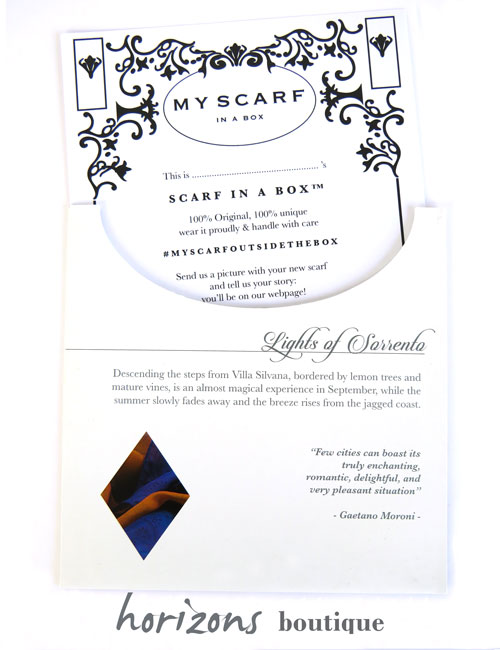 Scarf Sorrento Card - My Scarf in a Box