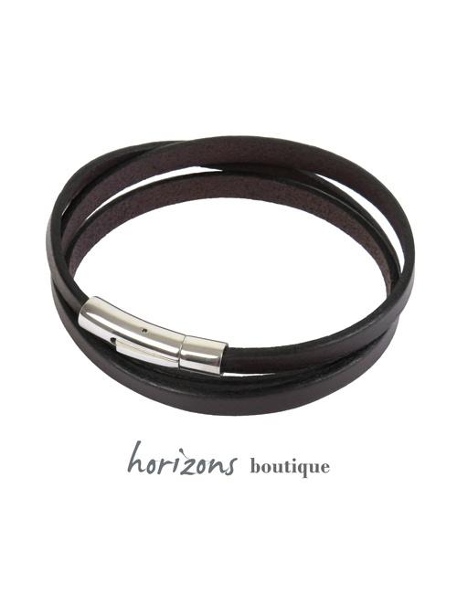 Bracelet DECLIC 3 Wraps Choco - Magnum Cuir