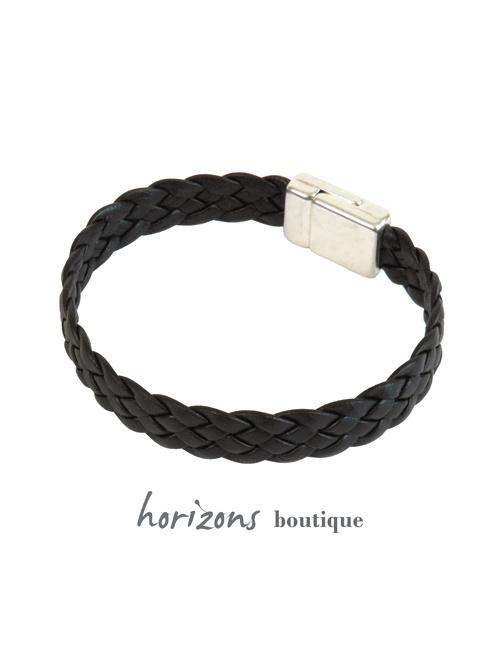 Bracelet ELITIC Braided Choco back - Magnum Cuir