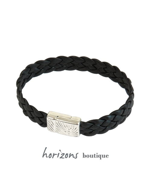 Bracelet ELITIC Braided Black - Magnum Cuir