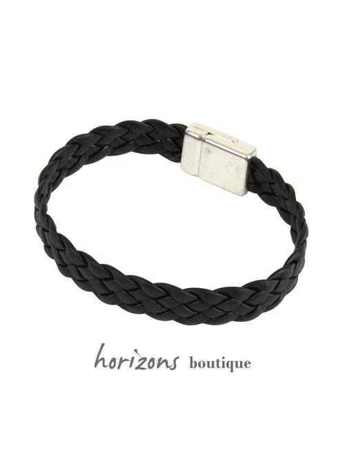 Bracelet ELITIC Braided Black back - Magnum Cuir