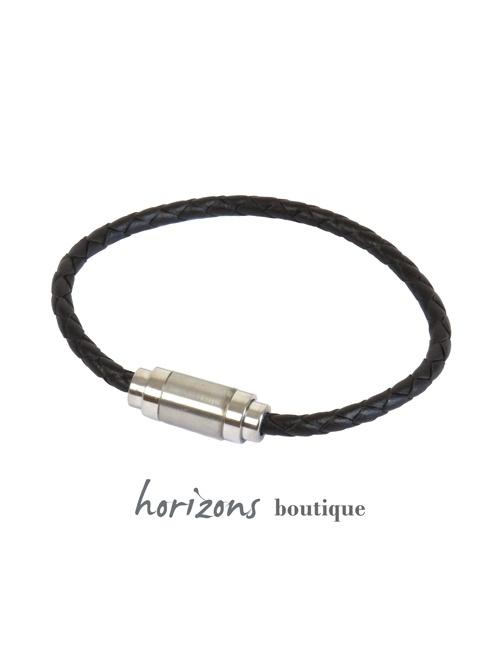 Bracelet MAGNETIC Braided Choco - Magnum Cuir