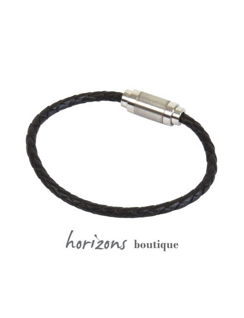 Bracelet MAGNETIC Braided Choco back - Magnum Cuir