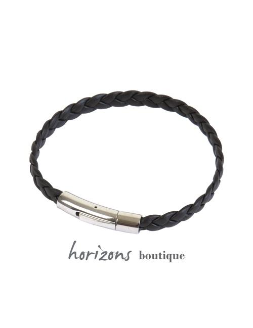 Bracelet DECLIC Braided Choco - Magnum Cuir