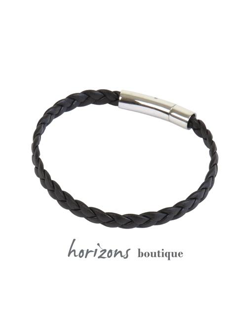 Bracelet DECLIC Braided Choco back - Magnum Cuir