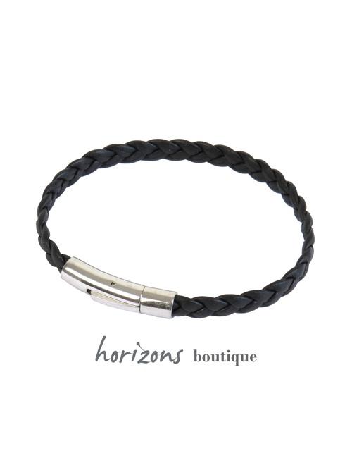 Bracelet DECLIC Braided Black - Magnum Cuir