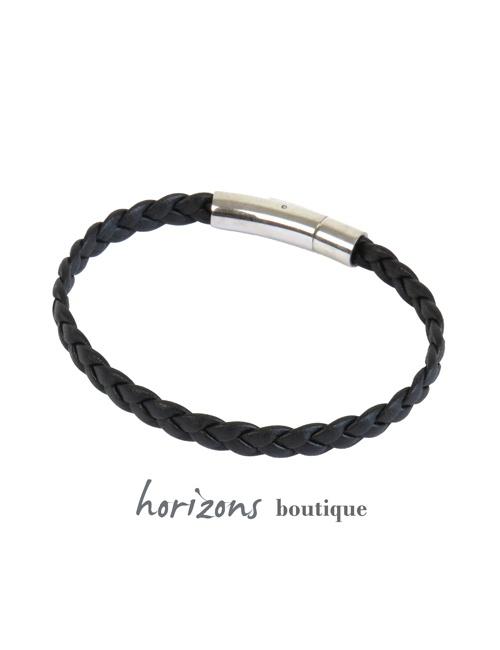Bracelet DECLIC Braided Black back - Magnum Cuir