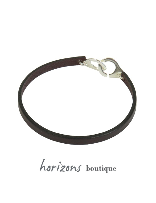 Bracelet MENOT'CHIC Single Choco back - Magnum Cuir