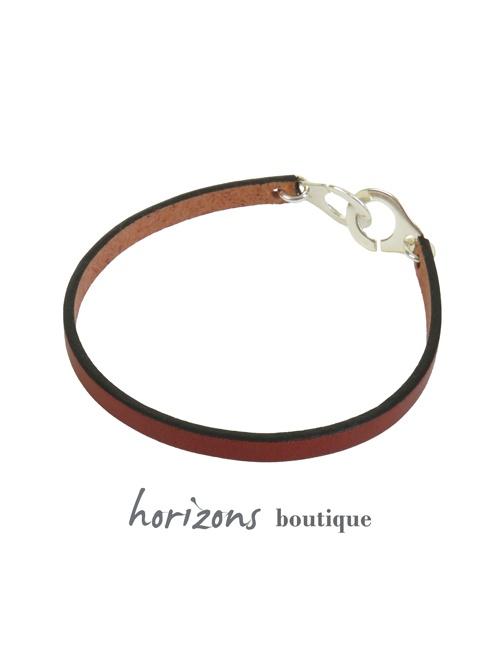 Bracelet MENOT'CHIC Single Cognac back - Magnum Cuir