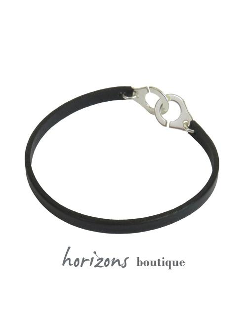 Bracelet MENOT'CHIC Single Black back - Magnum Cuir