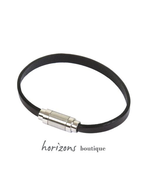 Bracelet MAGNETIC Single Choco front - Magnum Cuir