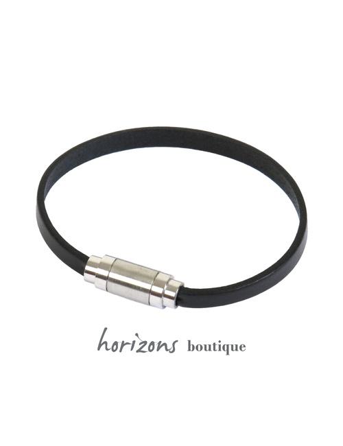 Bracelet MAGNETIC Single Black - Magnum Cuir