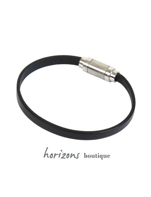 Bracelet MAGNETIC Single Black back - Magnum Cuir
