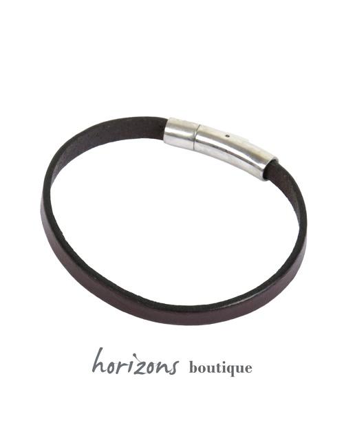 Bracelet DECLIC Single Choco back - Magnum Cuir