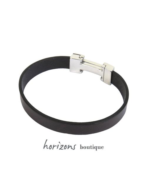 Bracelet CHIC Single Choco back - Magnum Cuir