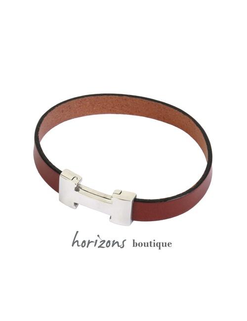Bracelet CHIC Single Cognac - Magnum Cuir