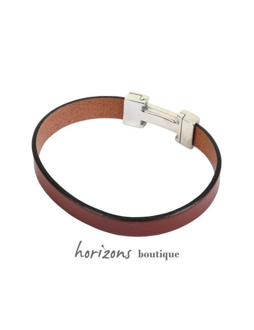 Bracelet CHIC Single Cognac back - Magnum Cuir