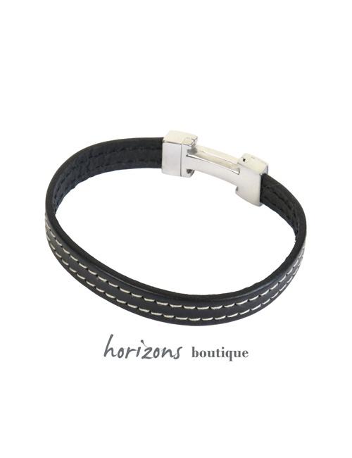 Bracelet CHIC Stiched Black back - Magnum Cuir