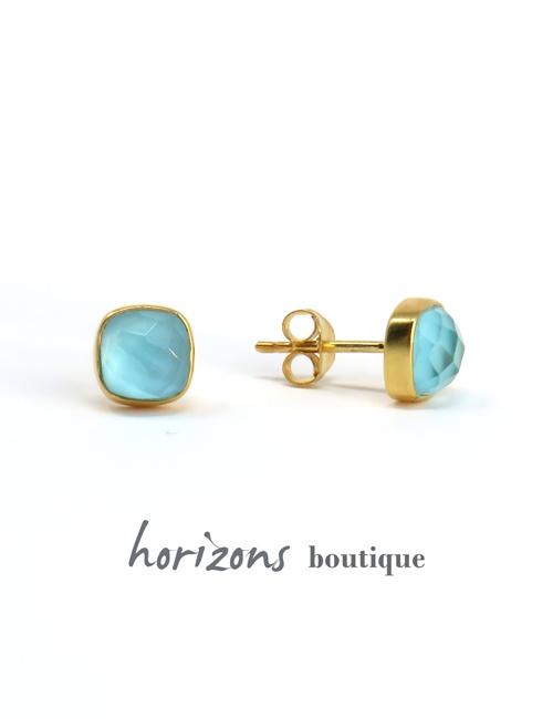 Earrings Carré Bleu - Cahana