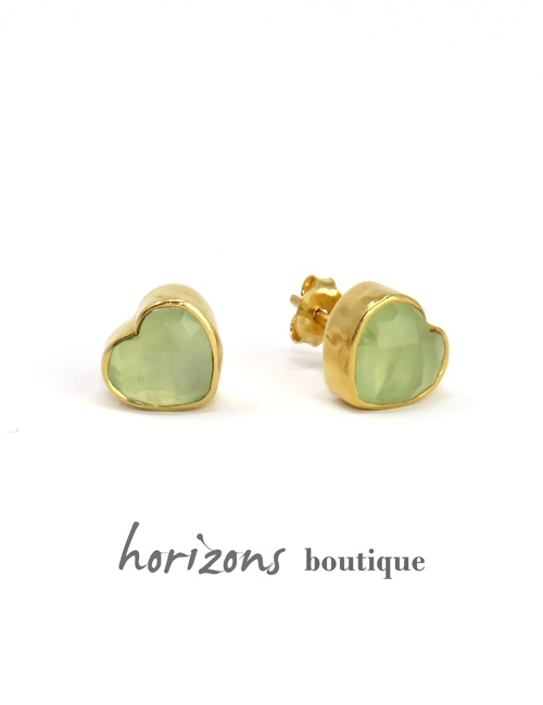 Earrings Heart Lime - Cahana