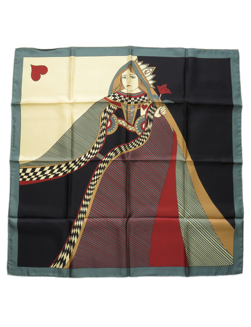 Silk Scarf Queen of Hearts Nude - AN-NEE