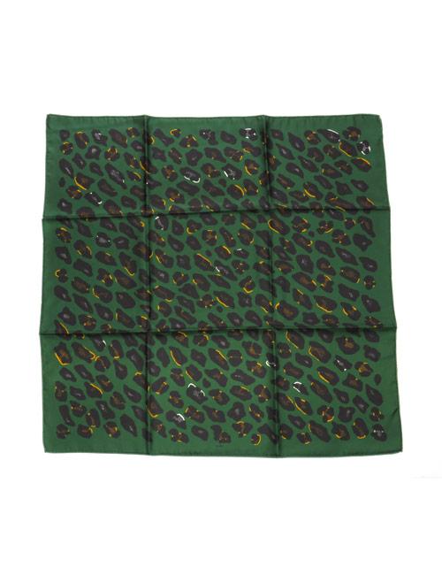 Silk Scarf Leopard Green - AN-NEE