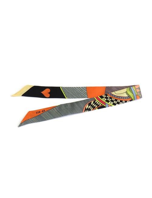 Bracelet Dame de Cœur Orange 2cm - AN-NEE